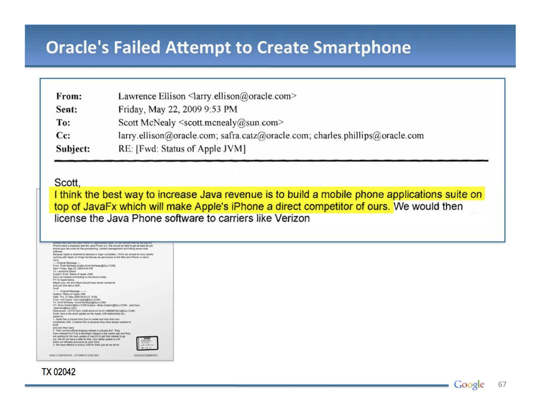 Google's legal slides paint Oracle as a gold digger, Java as free