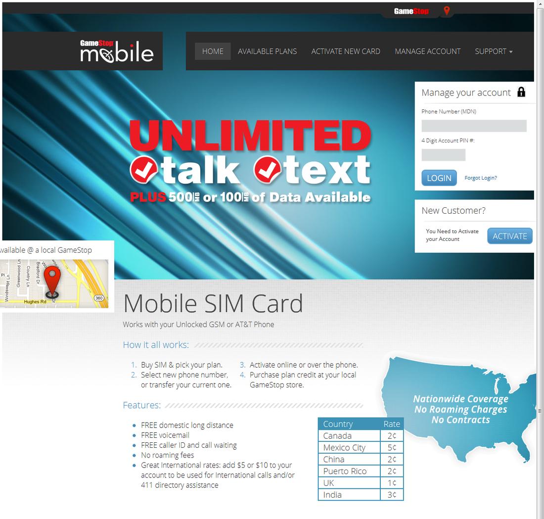 GameStop Mobile: video game retailer sells cellular service