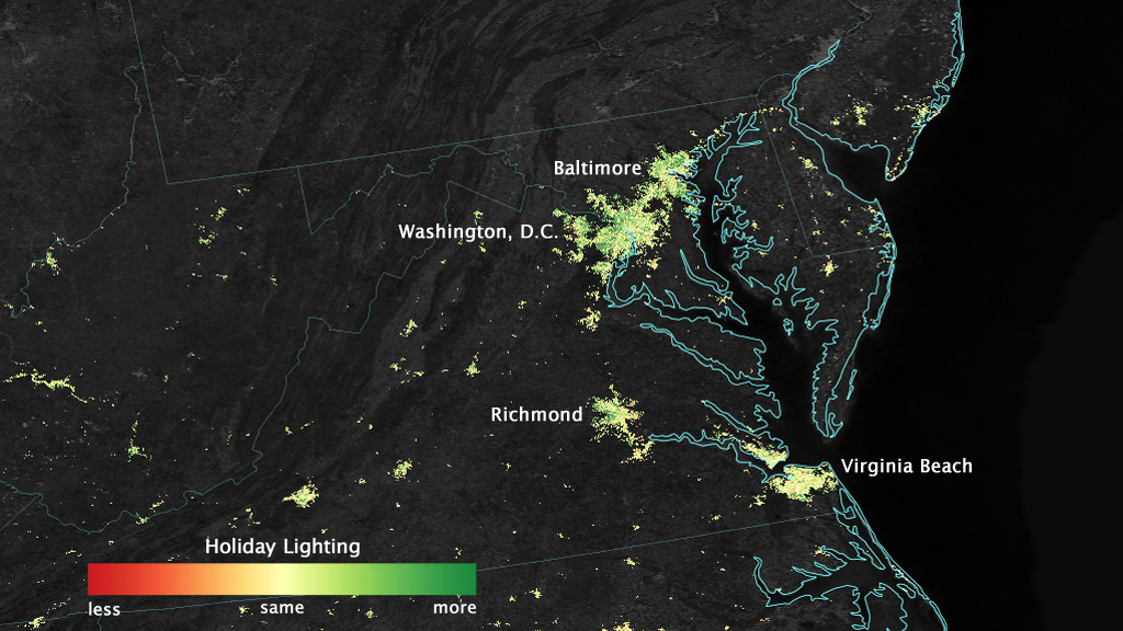 NASA Can See Your Christmas Lights From Space Vox - Us lights map