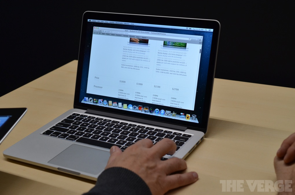 13-inch MacBook Pro with Retina display hands-on - The Verge