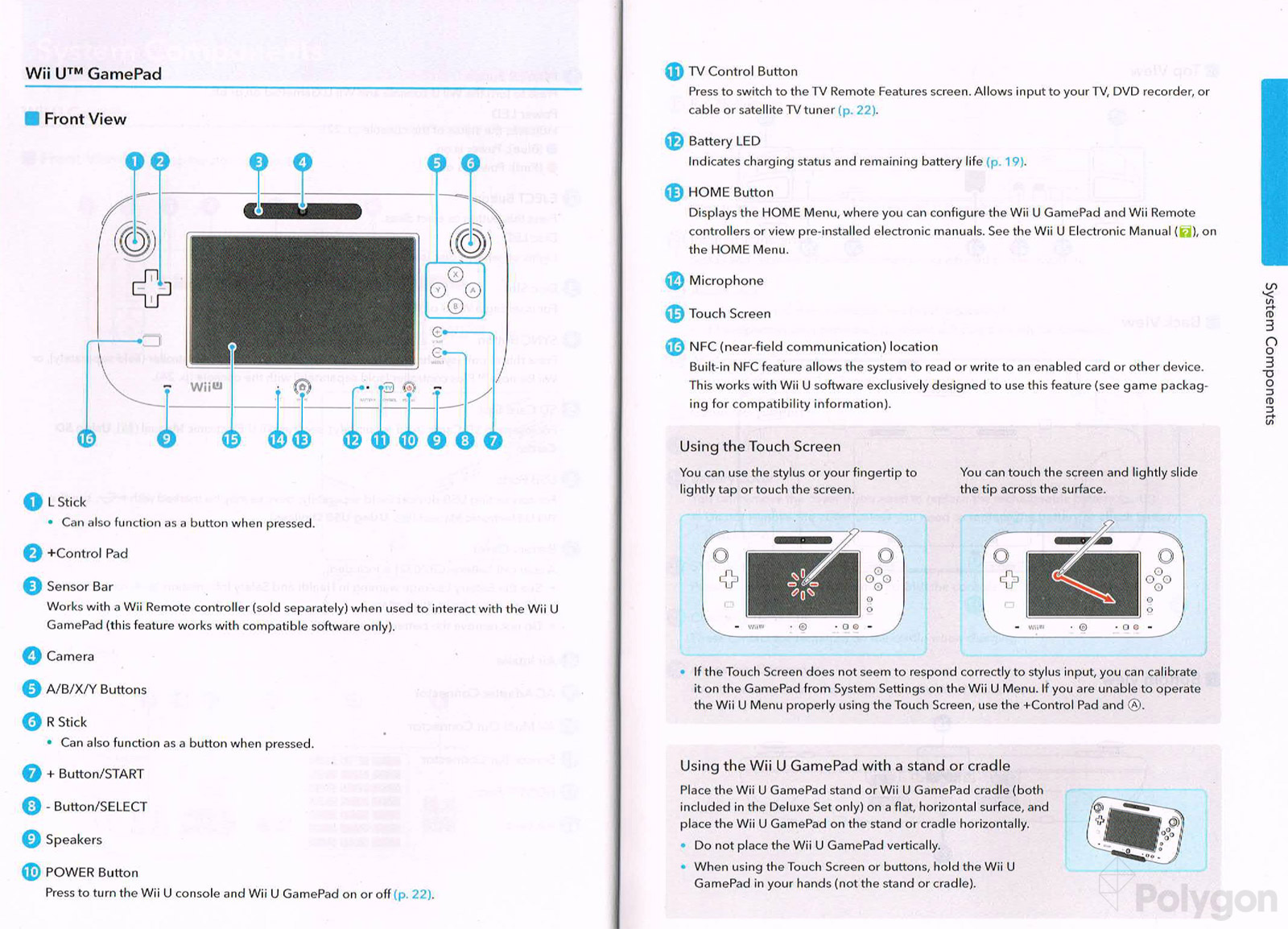 wii u instruction manual offers detailed diagrams of gamepad pro rh polygon com wii controller manual on pc wii controller setup manual