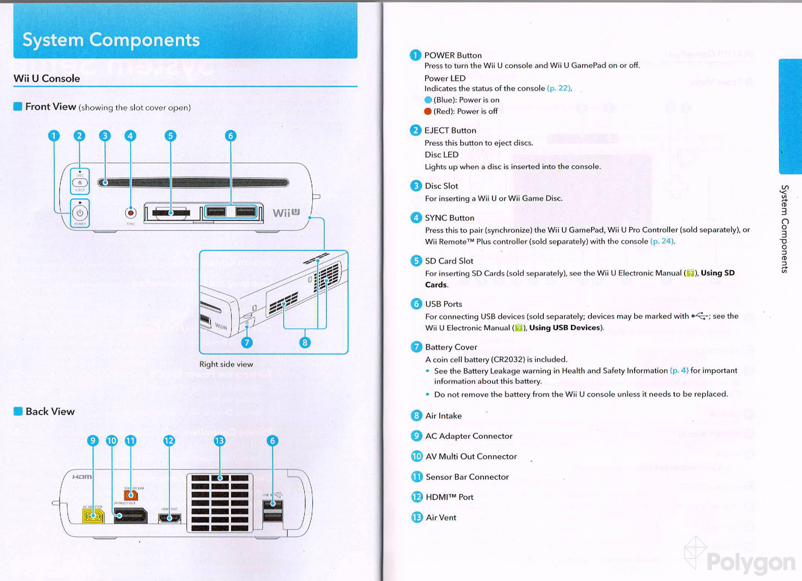 Wii U Instruction Manual Offers Detailed Diagrams Of Gamepad, Pro Yamaha  Outboard Wiring Harness Diagram Wii U Battery Wiring Diagram