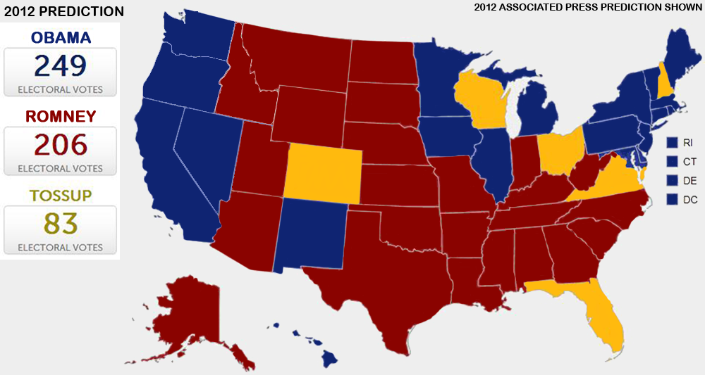 2012 Presidential Election Results By State Map.Presidential Election 2012 Vote Maps Gallery Cageside Seats