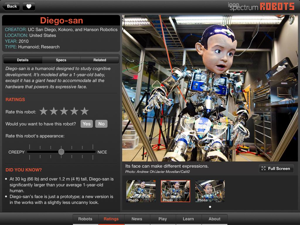 Robots iPad app offers interactive look at robotics history
