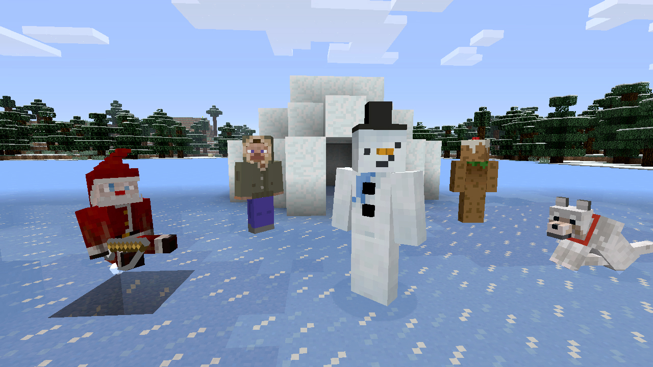Get Pixelated Holiday Cheer In Minecraft Xbox Edition Festive - Minecraft skins fur die ps3