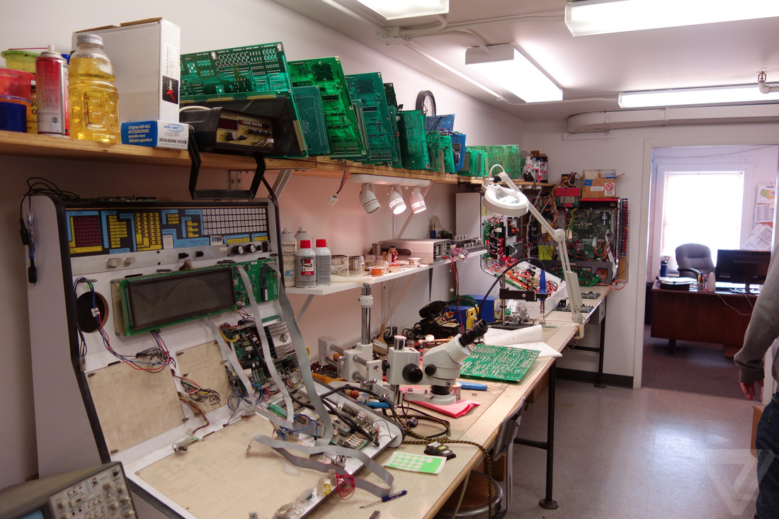 Inside One Of The Last Pinball Factories In World Verge Wiring Diagrams Sterns Small Repair Facility Looks Like An Electrical Engineers Dream Stocked With Array Soldering Irons Oscilloscopes And A Long Shelf