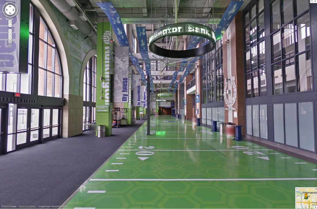 Google Maps gives NFL fans a tour of Lucas Oil Stadium, home of the ...