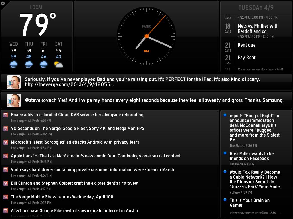 Panic debuts Status Board app, a widget hub for iPad - The Verge