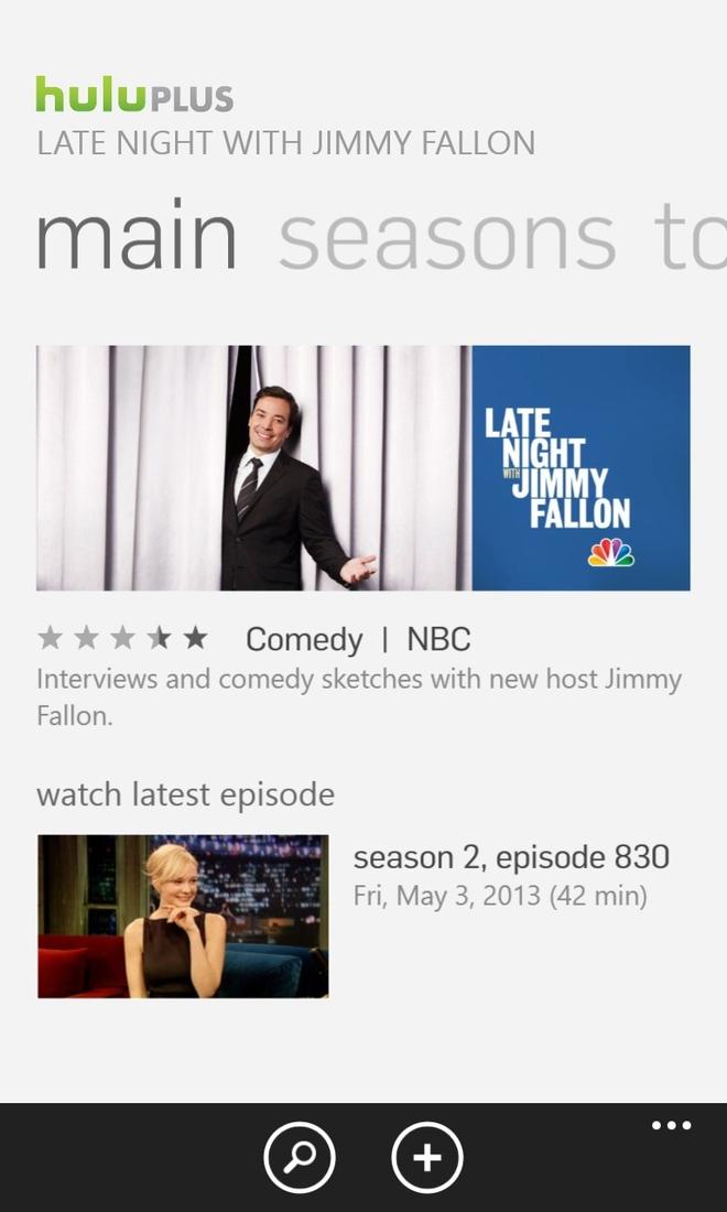 Hulu Plus arrives on Windows Phone as Microsoft's game of app catch