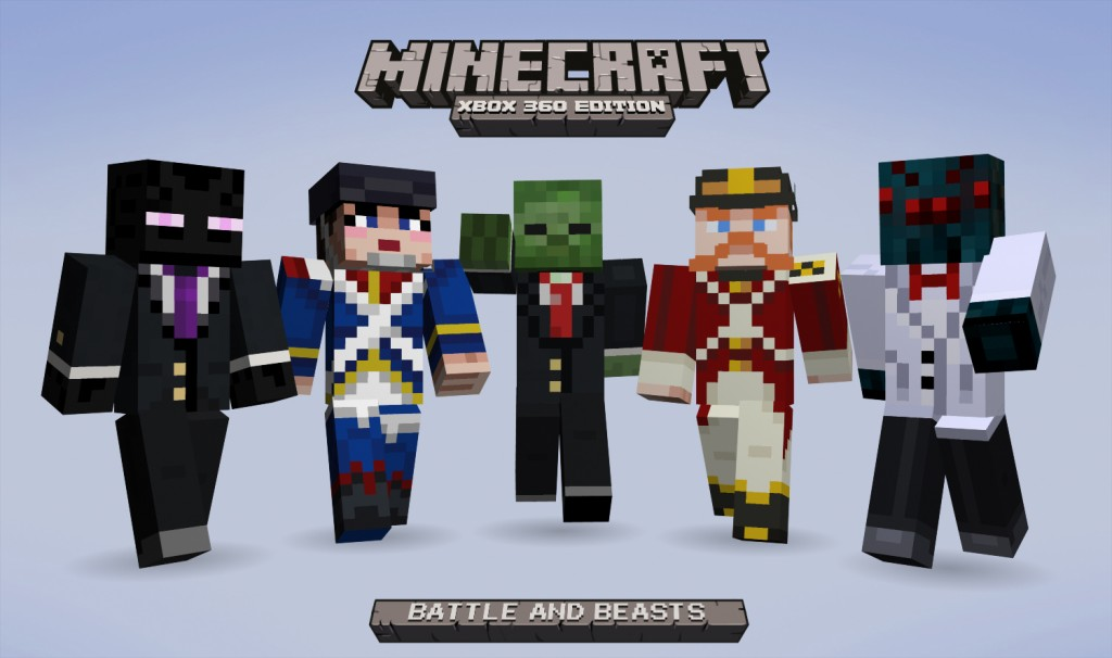 Minecraft Xbox Edition Battle And Beasts Skin Pack Adds - Skin para minecraft or