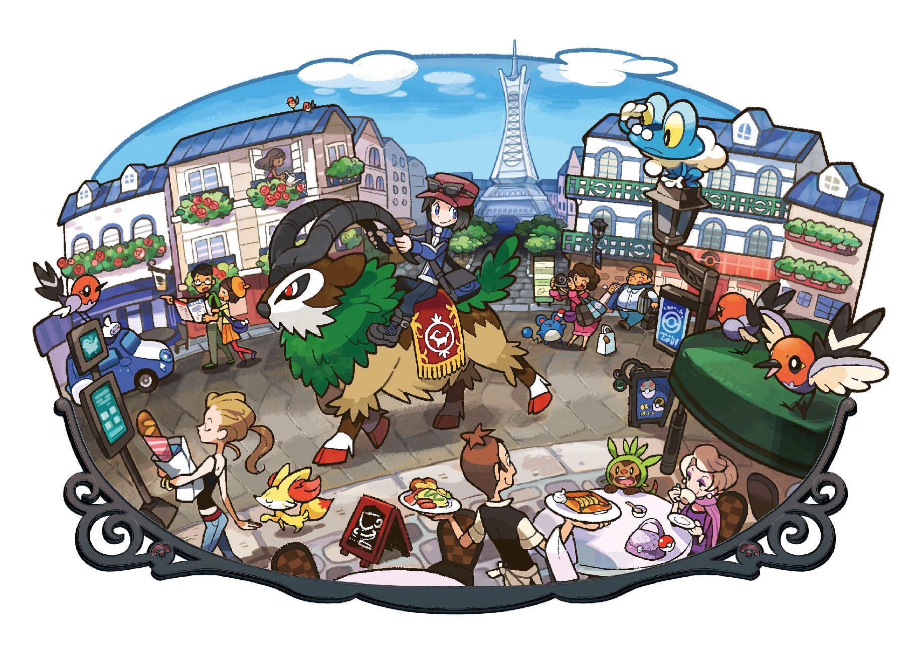 Go for a Pokemon ride in Poke-France in the newest Pokemon X & Y trailer