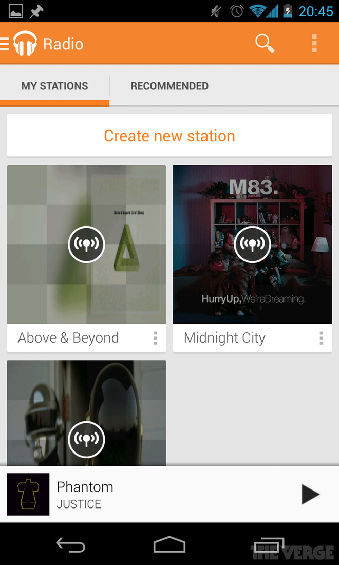 Google Play Music All Access Android and web screenshots - The Verge