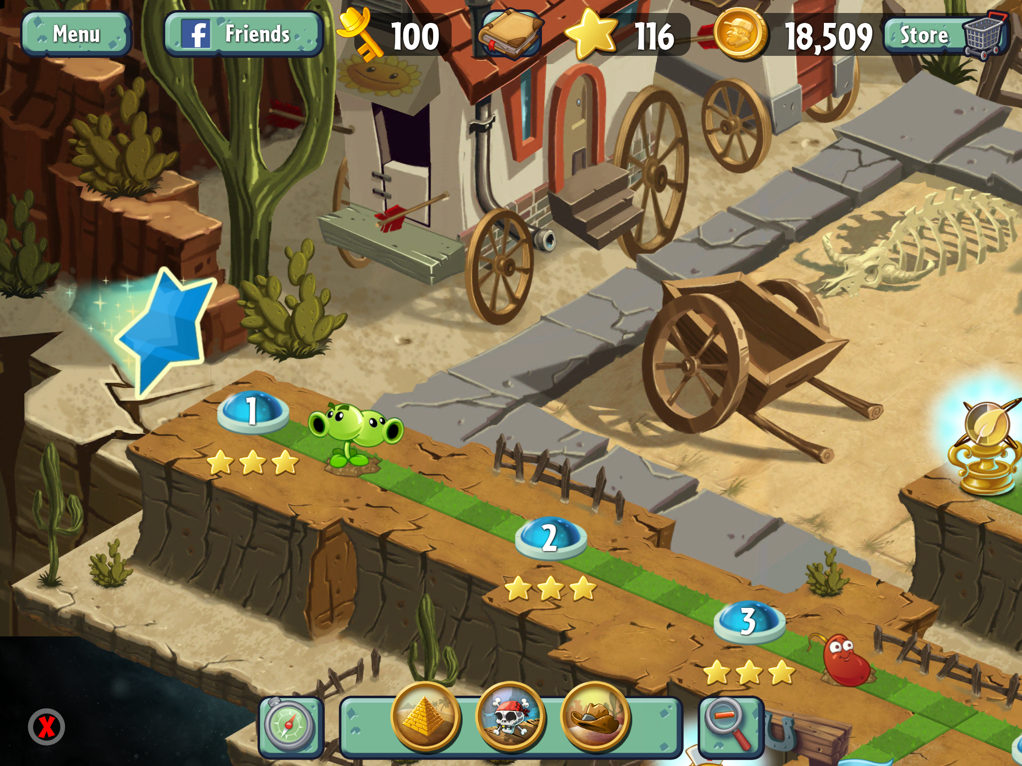 Plants vs  Zombies 2: It's About Time's campaign threads
