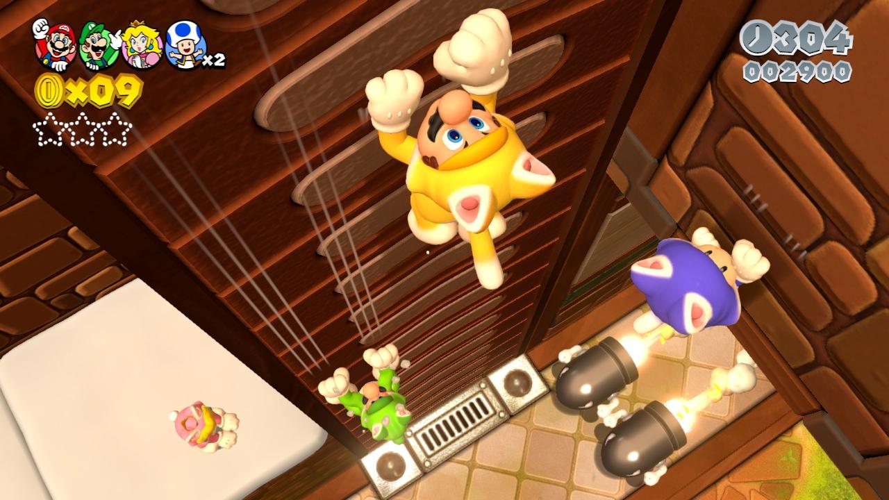 Fresh Super Mario 3D World screens show off cat powers, sand