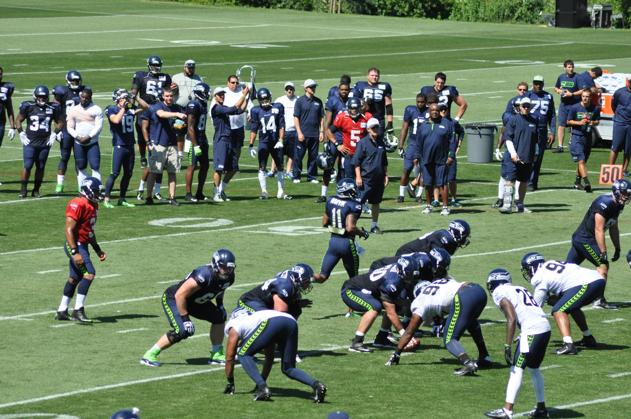 seahawks training camp sunday photo gallery field gulls