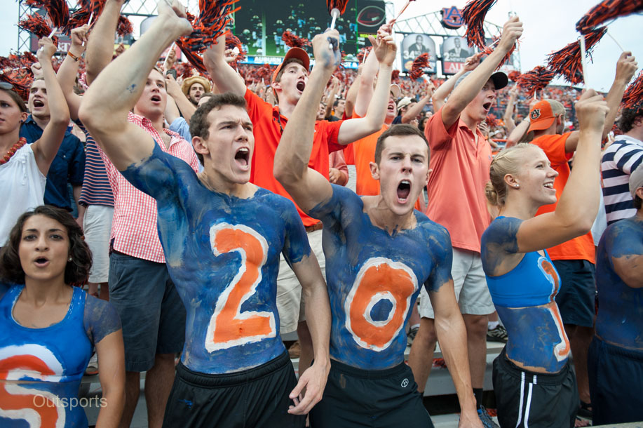 College Football Fans Show Their True Colors Outsports