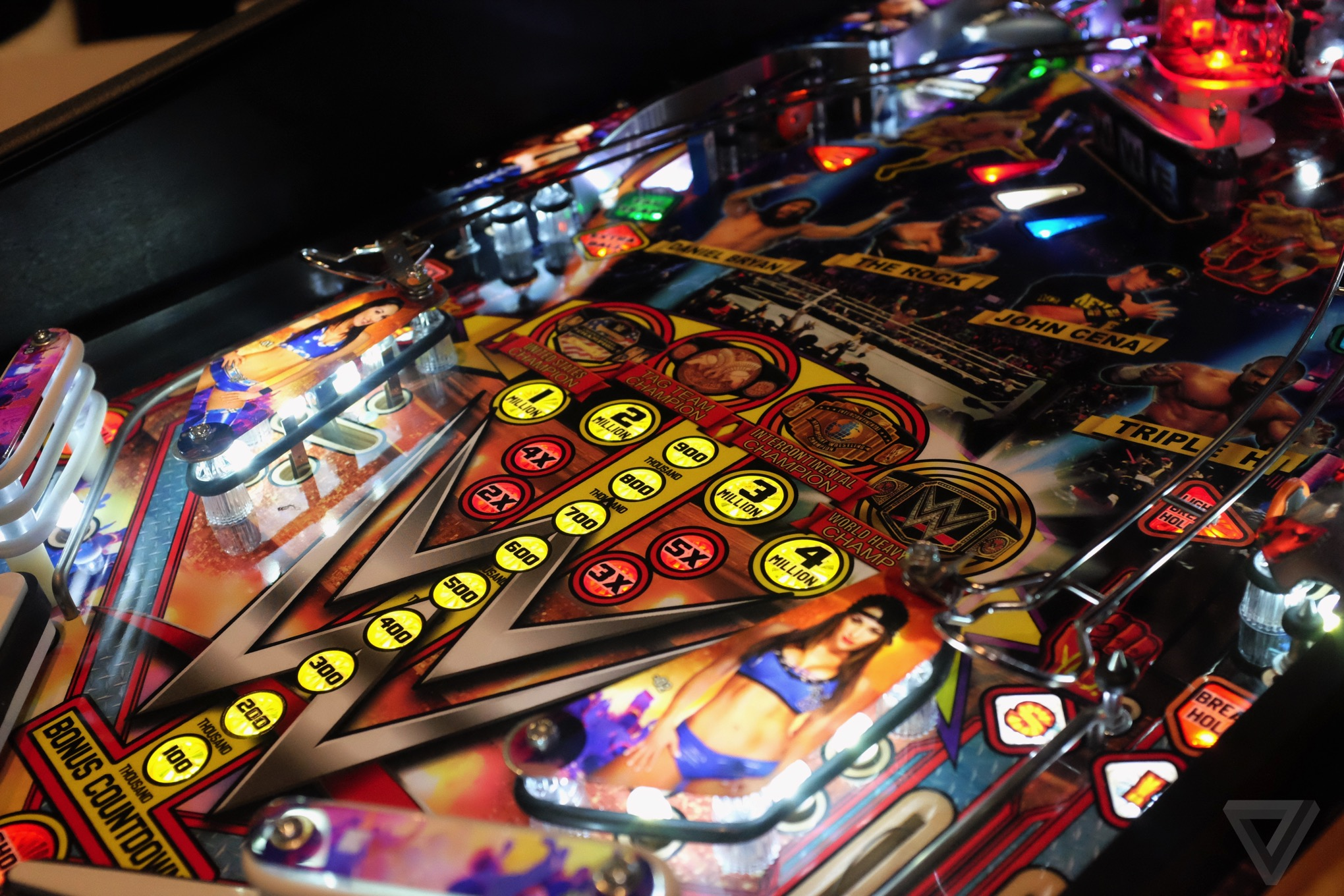 This Wrestlemania pinball machine is Stern's newest, most