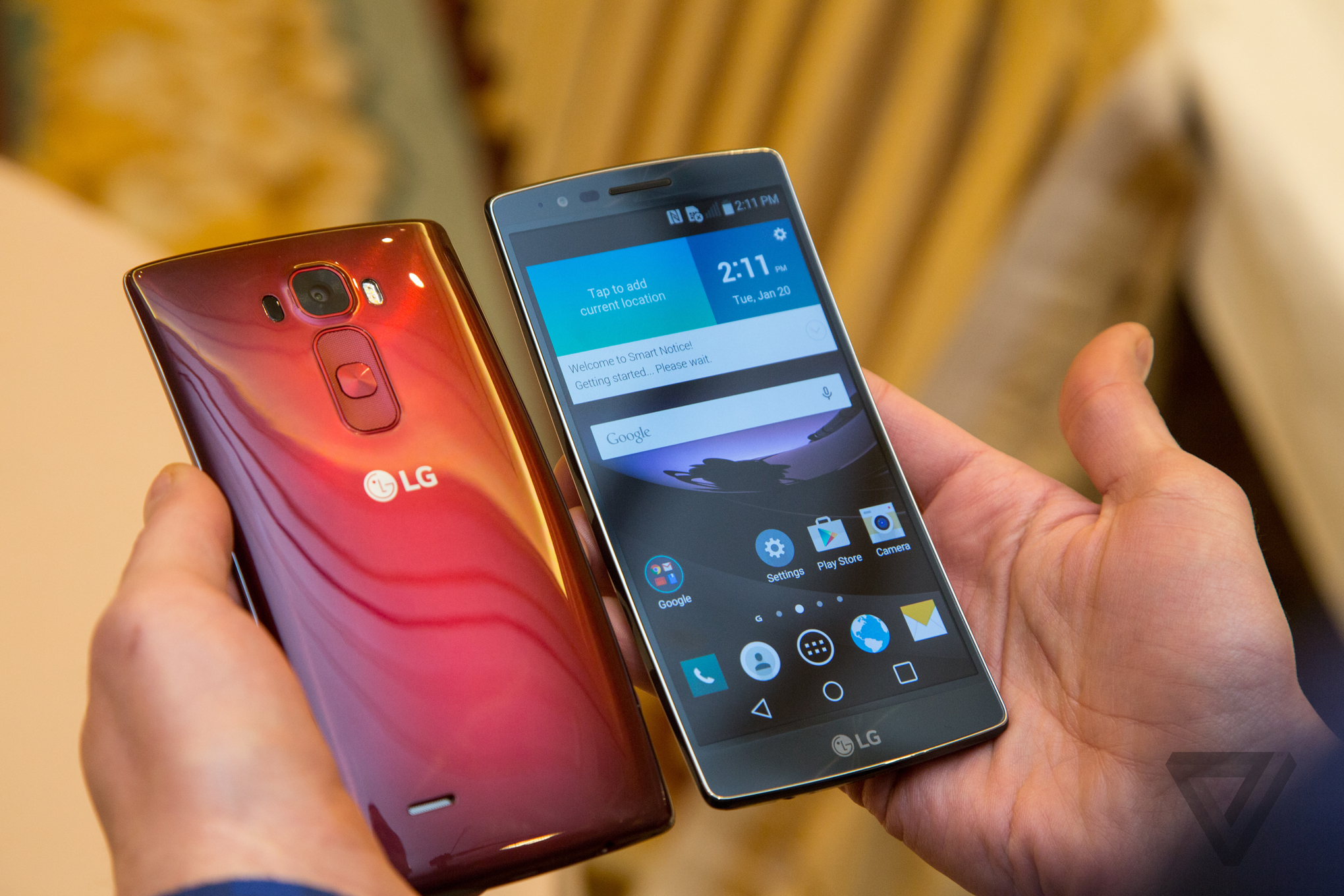 lg g flex 2 hands on photos the verge