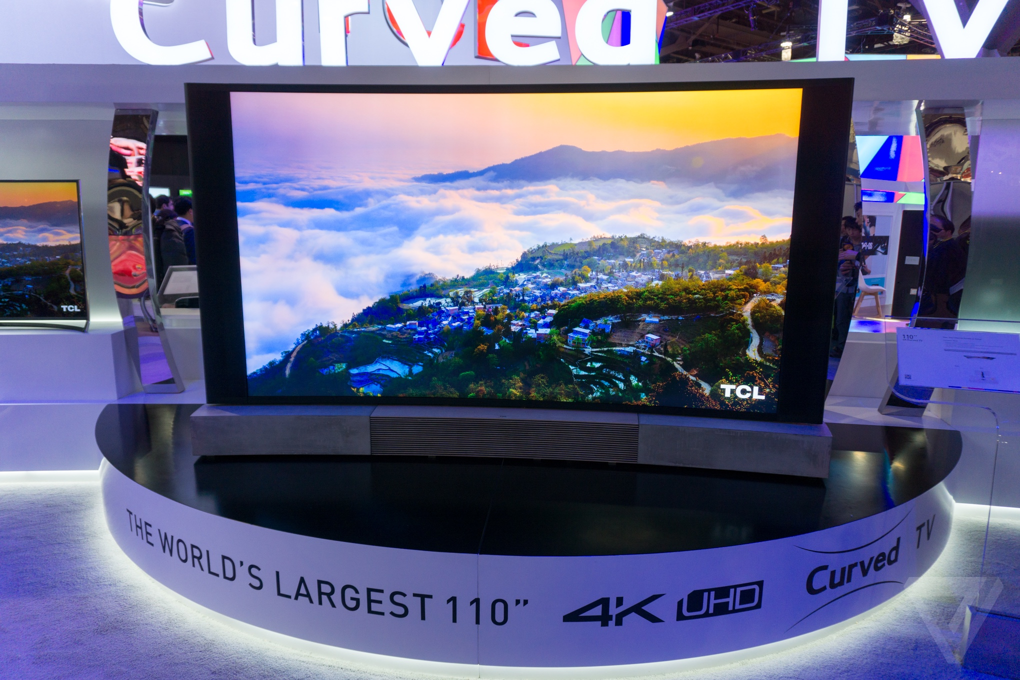 Tcl S 110 Inch Curved 4k Tv Is The Definition Of Ces
