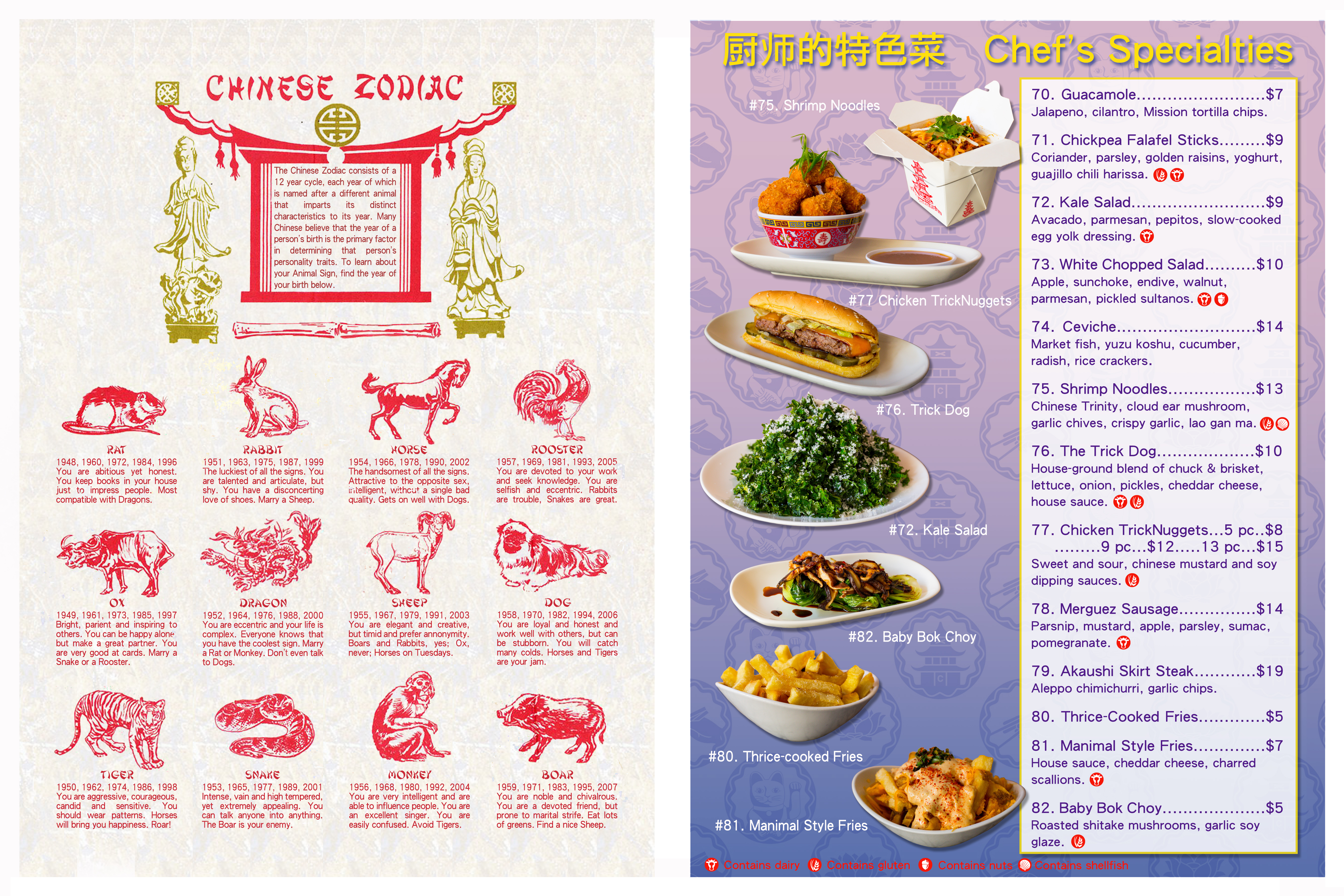Trick dog launches hokey hilarious new chinese restaurant for Asia cuisine menu