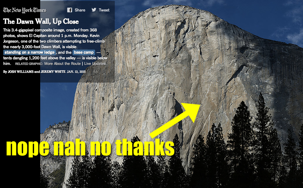 3. My hands are clean and soft. The hands that climbed El Capitanu0027s ...  sc 1 st  SB Nation & No I will not free climb the Dawn Wall of El Capitan - SBNation.com