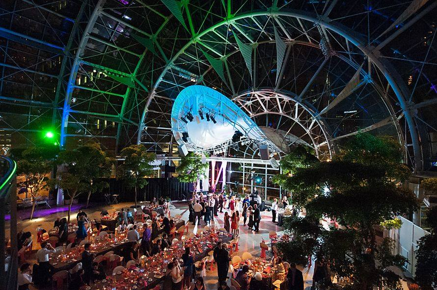 20 incredibly stunning wedding venues across the country racked image via indyarts facebook indianapolis artsgarden junglespirit Images