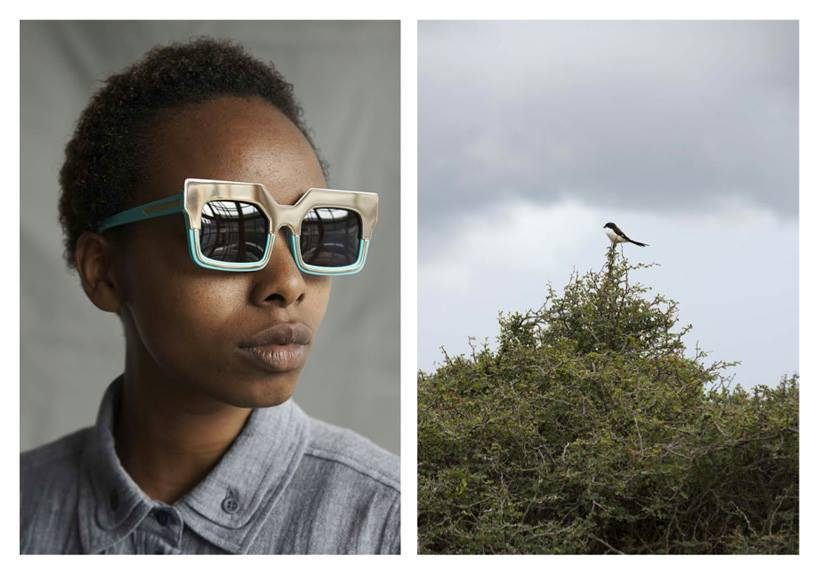 3c26bba8164f Florence in Praise Maker in Turquoise with Gold. Designer Karen Walker  journeyed to Kenya to shoot her latest eyewear campaign ...
