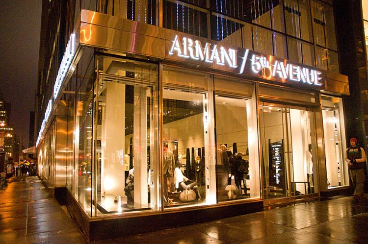 Behold the 25 most expensive stores in the united states for Armani store nyc