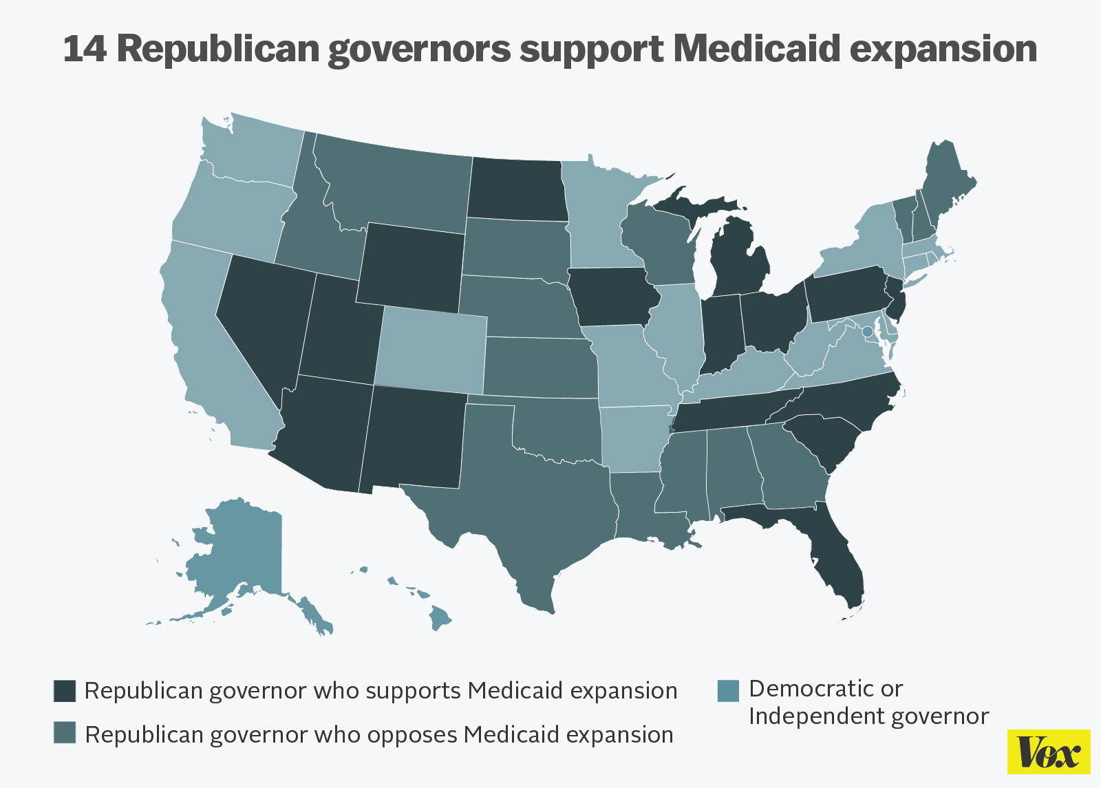 Republican Governors Are Using Obamacare To Make Medicaid More - Us map of republican governors