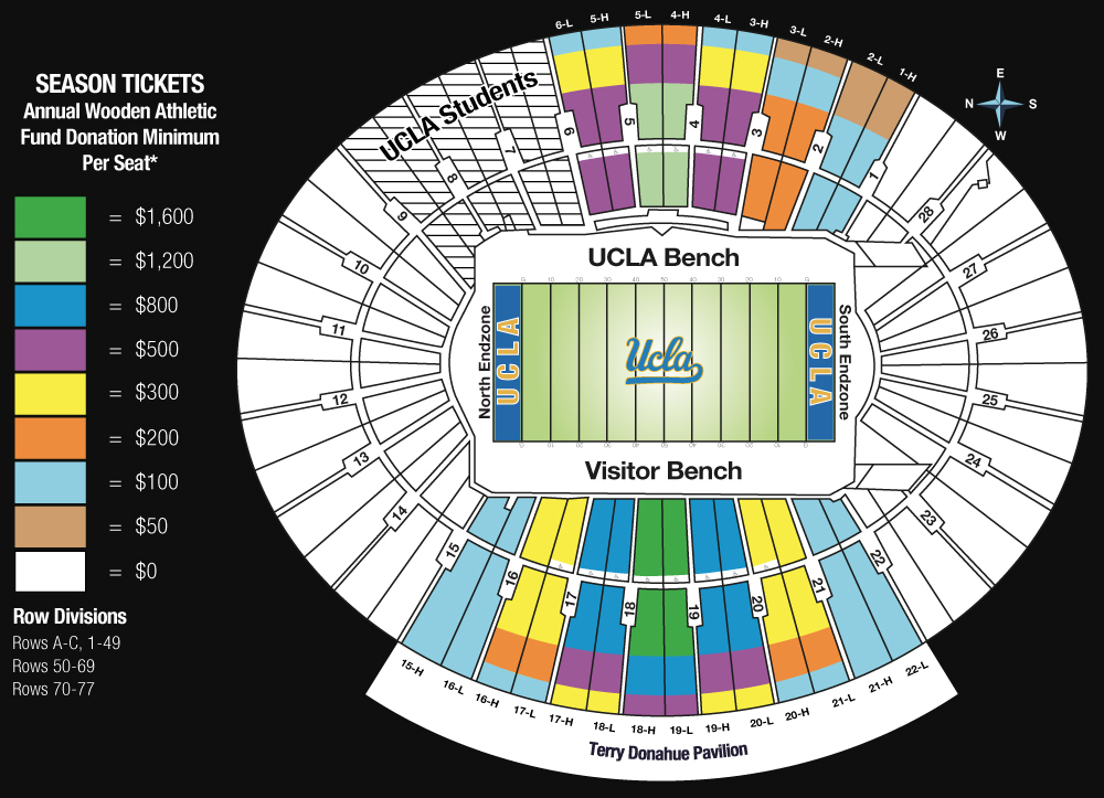 ucla announces big changes to rose bowl seating for 2016 bruins