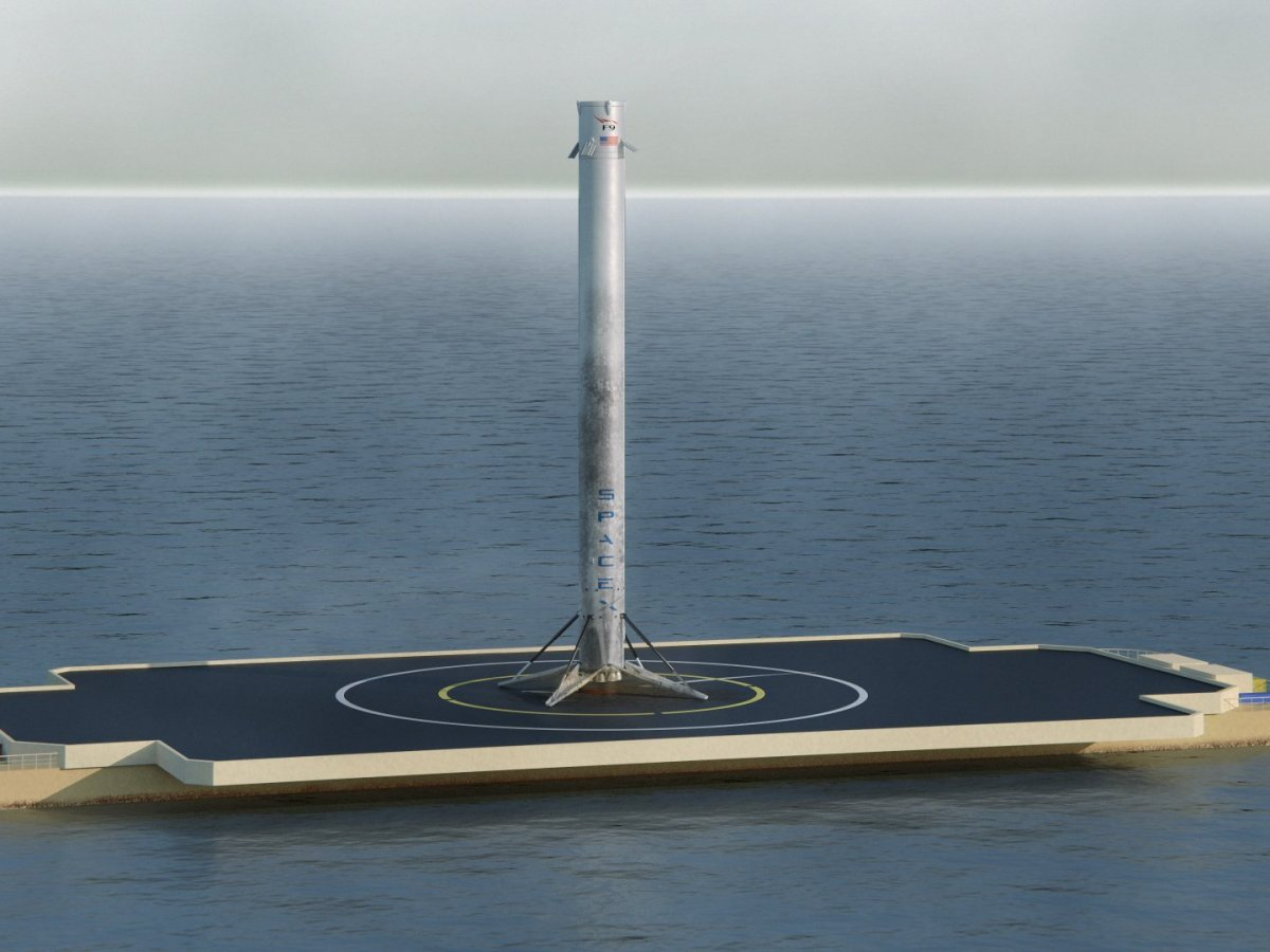 falcon 9 barge platform a rendering of the spacex rocket s