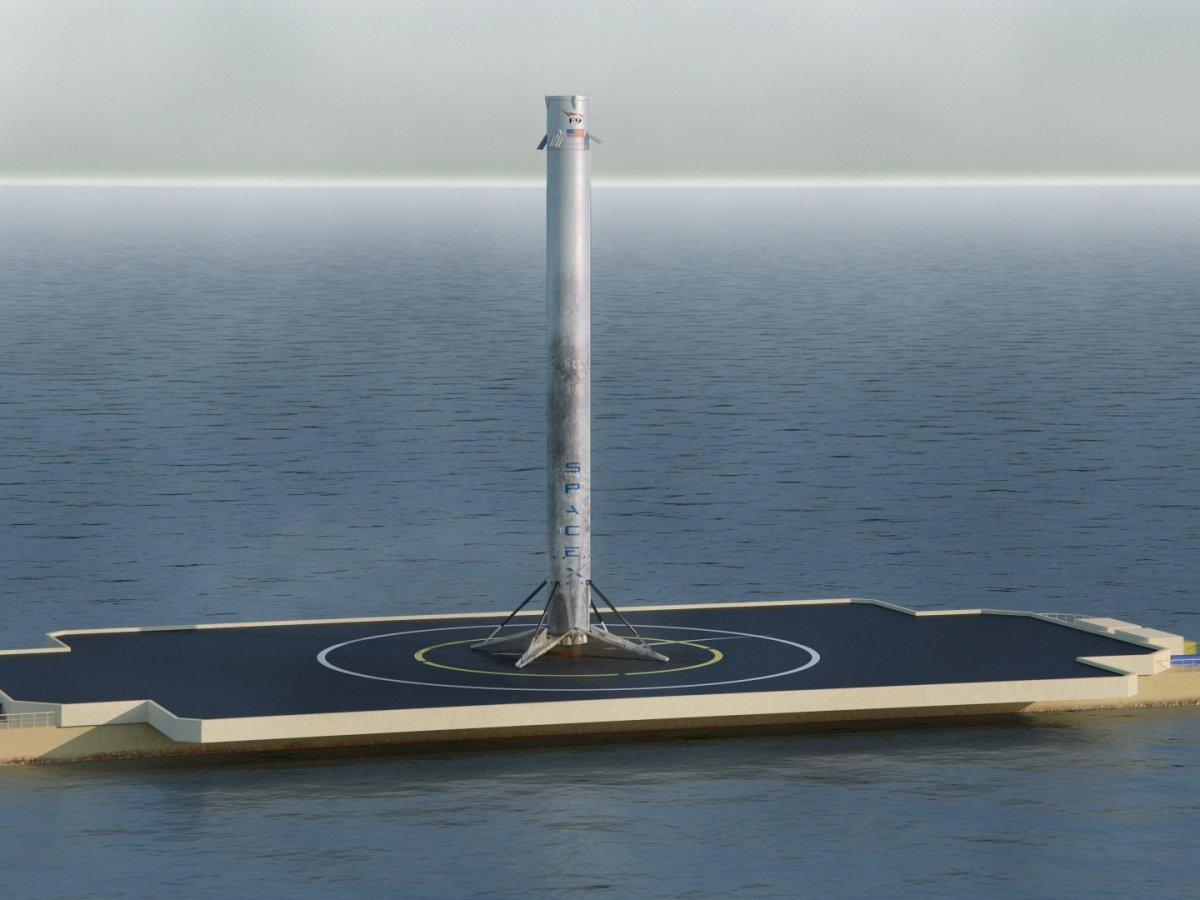 falcon 9 barge platform