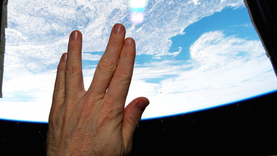 The best sendoff to Spock came from the International Space Station