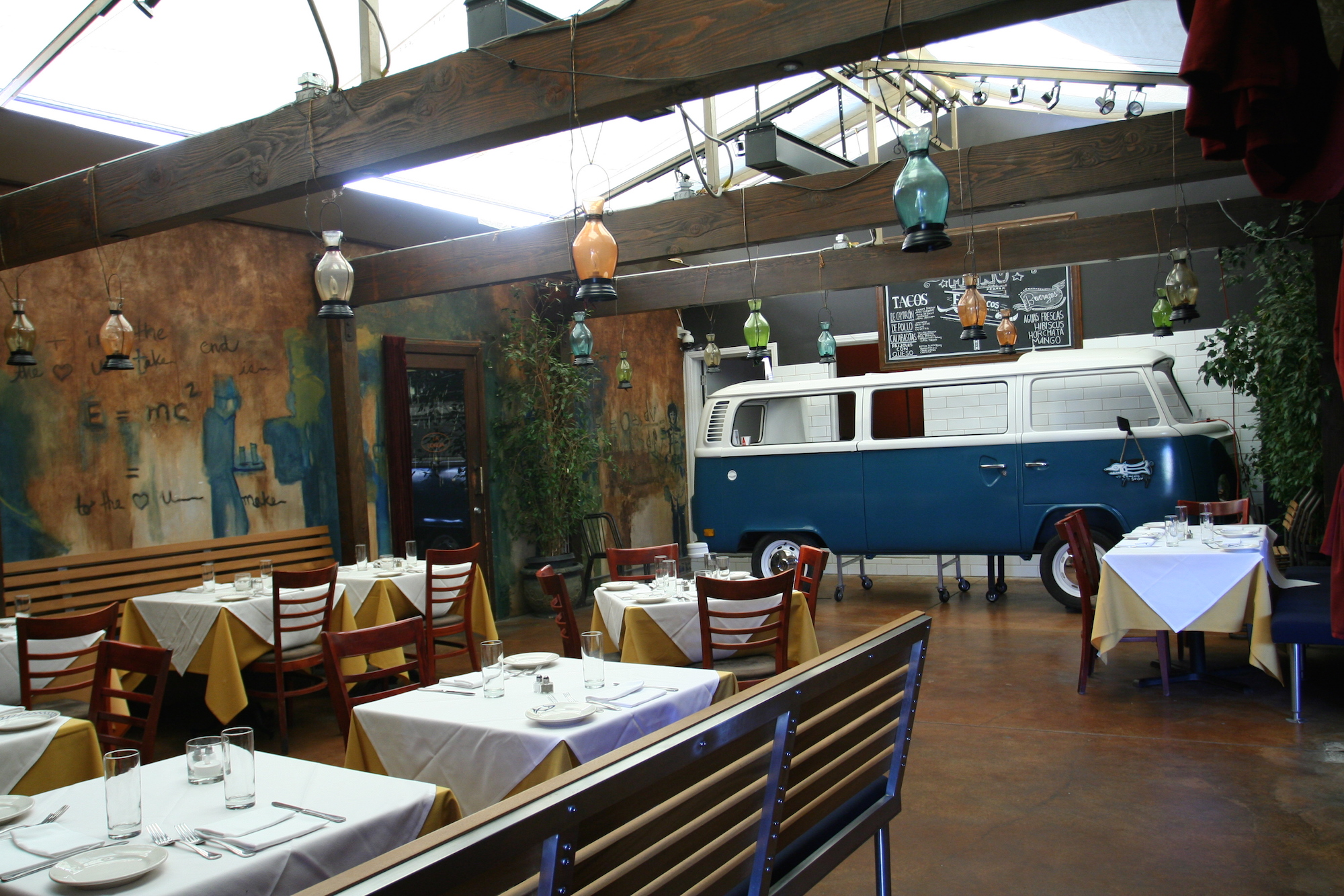 mex euro bar ceremony hits studio city with volkswagen taco bus eater la. Black Bedroom Furniture Sets. Home Design Ideas