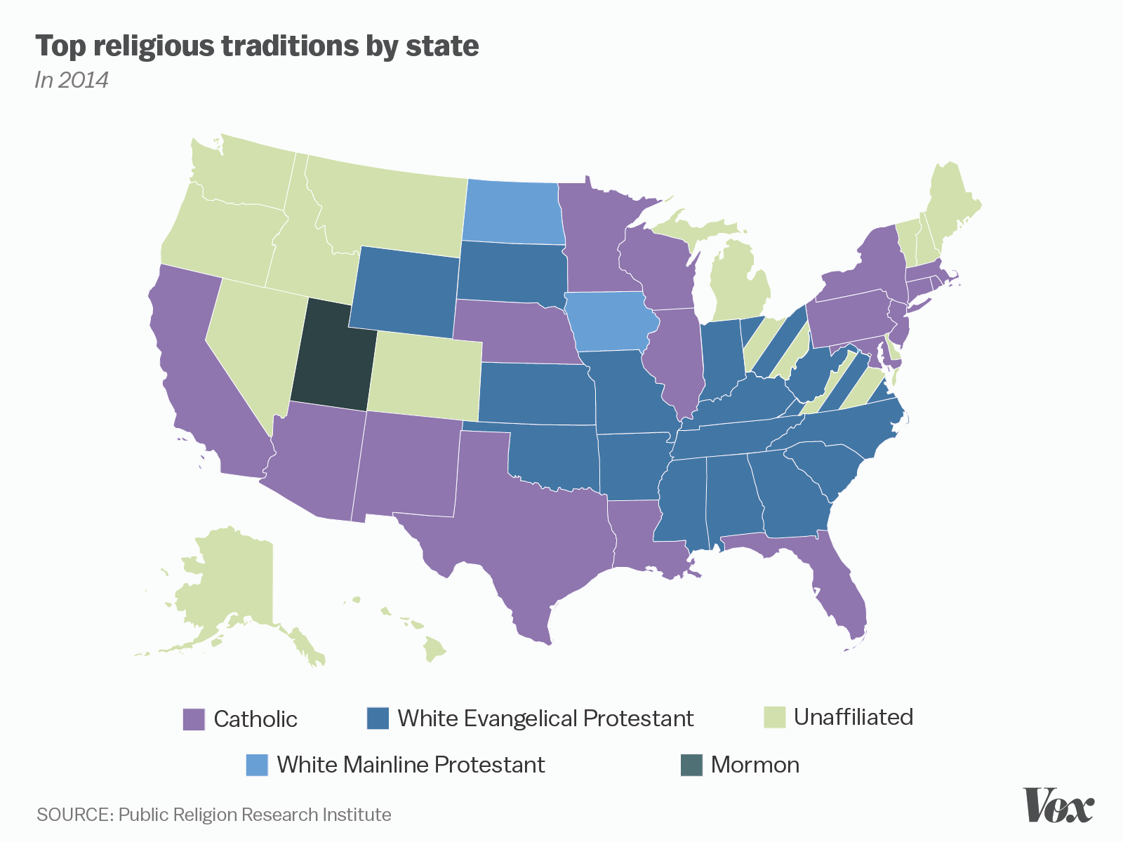 One Nation Under God Mapped Vox - Top religions in the world