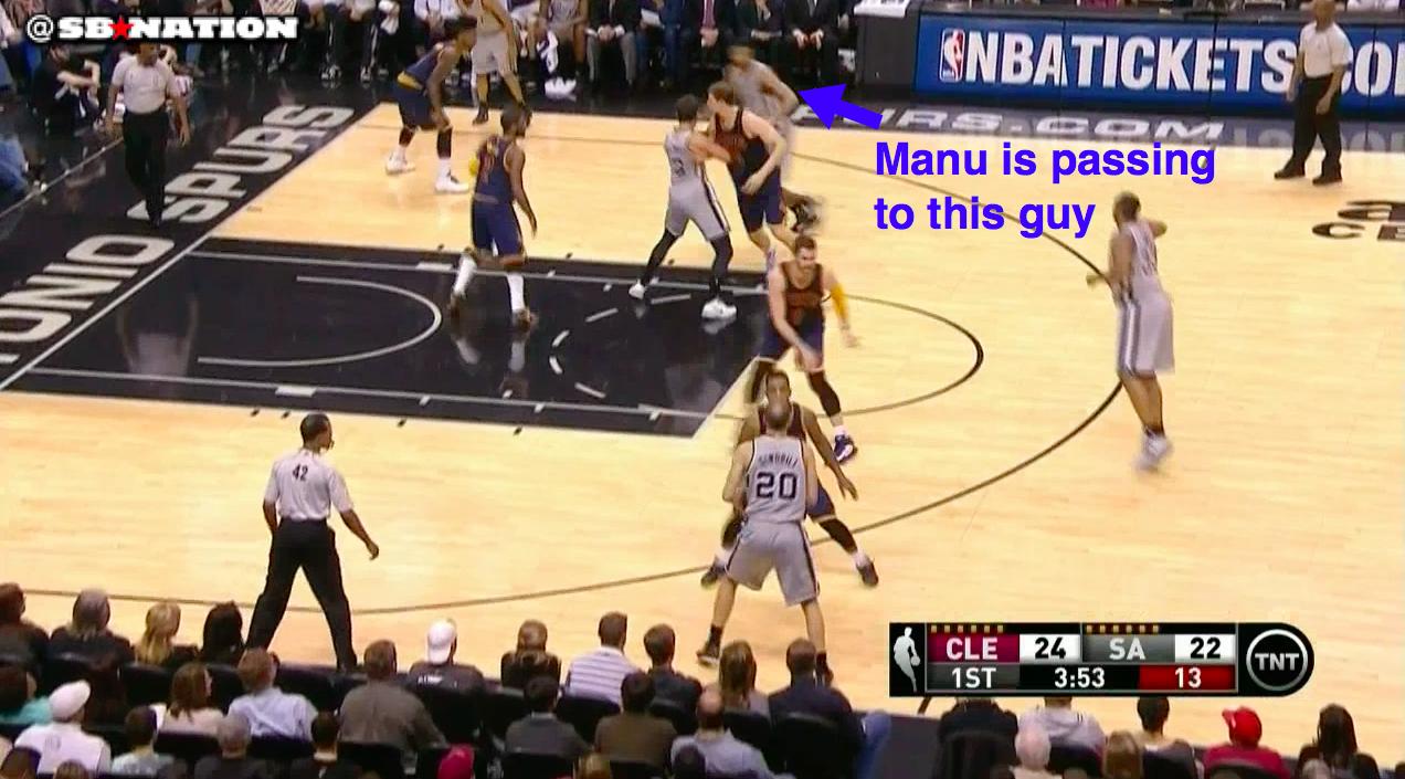 This Manu Ginobili pass proves he has X-ray vision