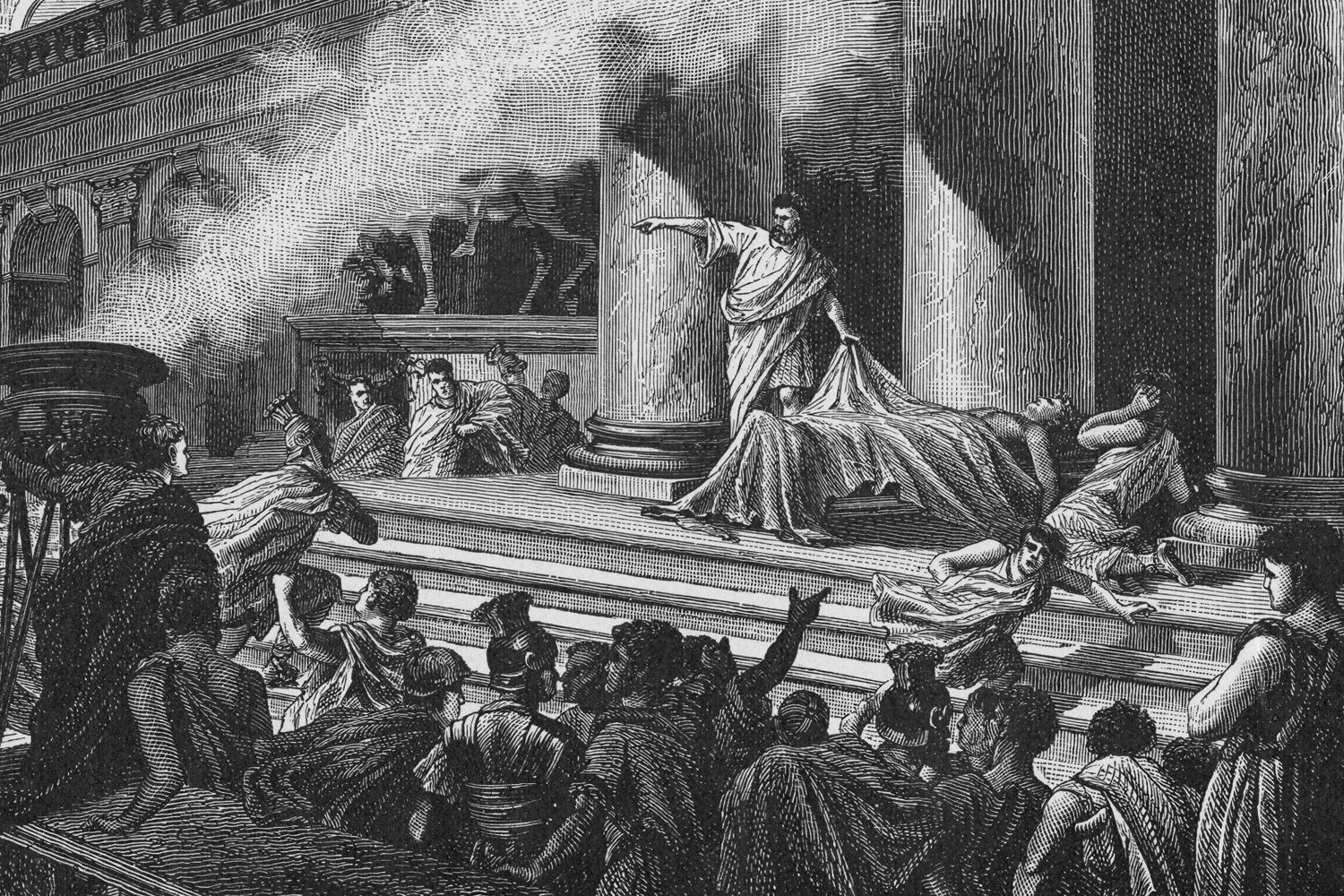 speech for brutus to the people after killing caesar The real story behind the assassination of julius caesar by larry getlen view author archive drove brutus against caesar they decided to kill caesar in the senate house.