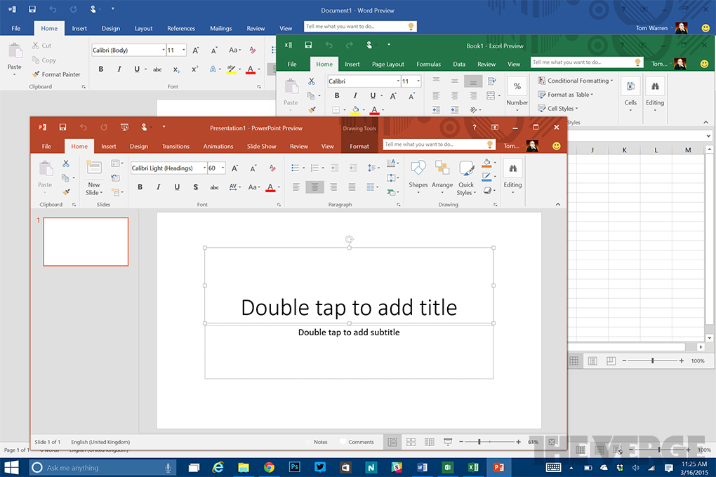 Microsoft office 2016 includes a colorful new theme the verge office 2016 for windows desktop ccuart Image collections