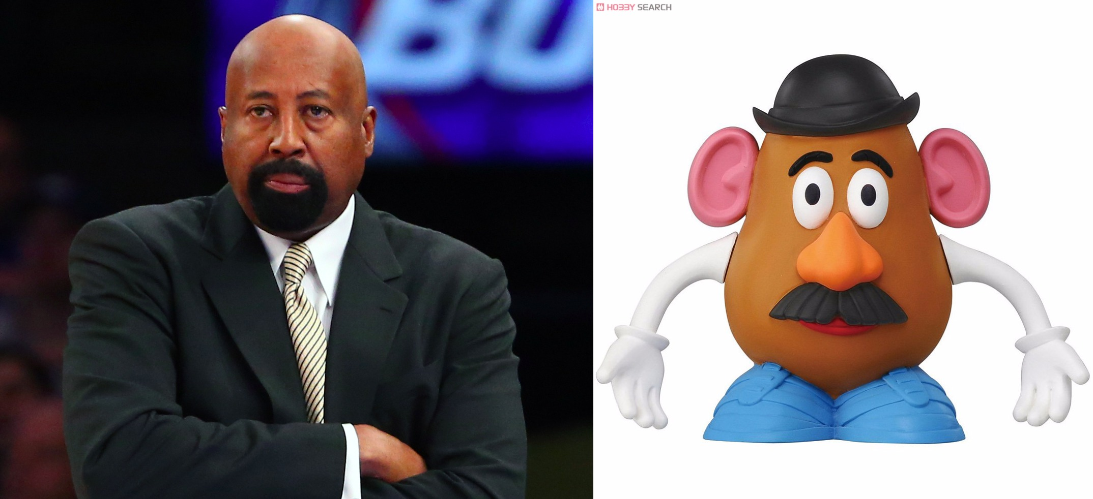 Mike Woodson now looks more like Mr Potato Head than ever before