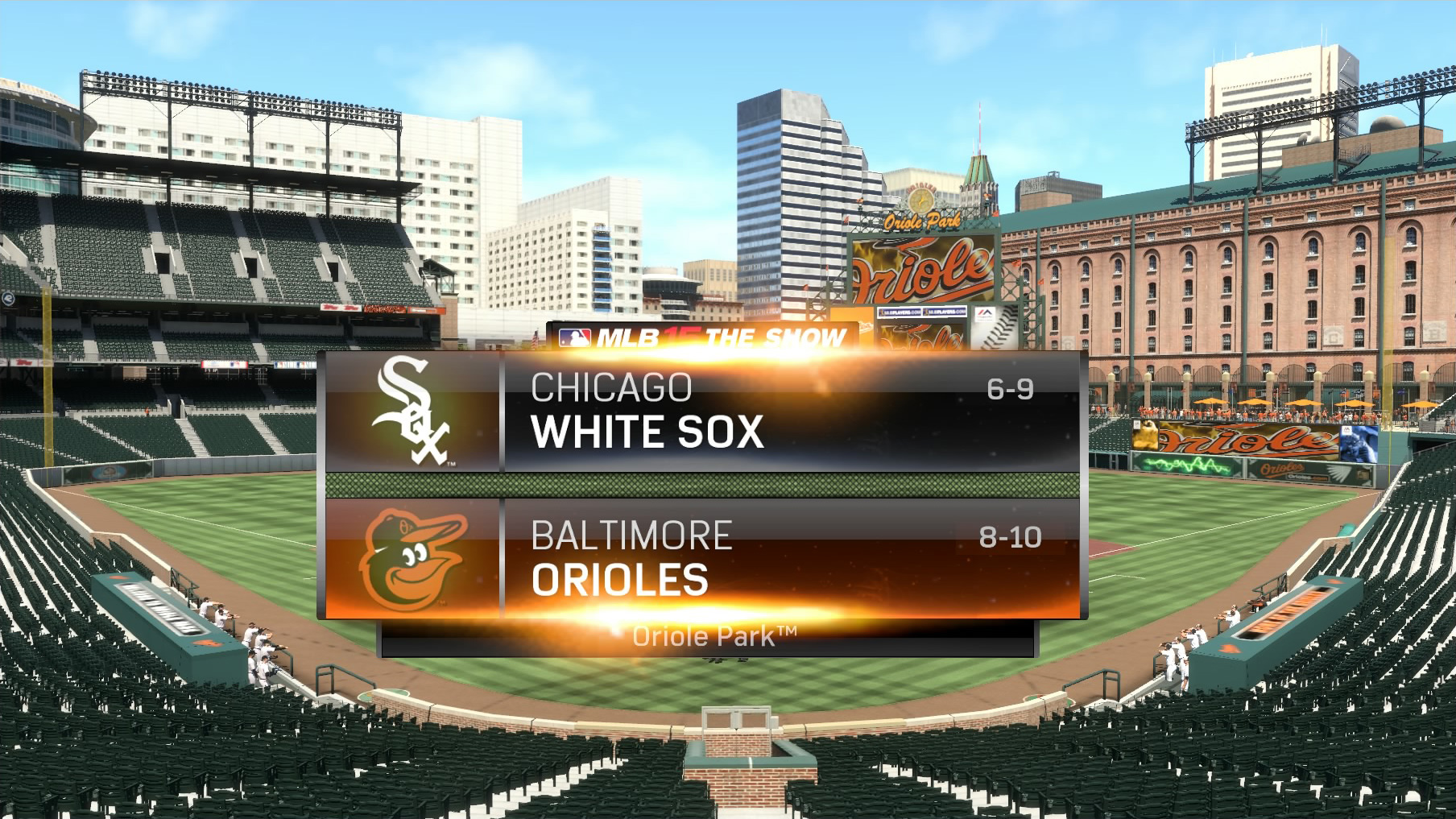 MLB 15 The Show recreates historic Baltimore Orioles game played in empty ballpark