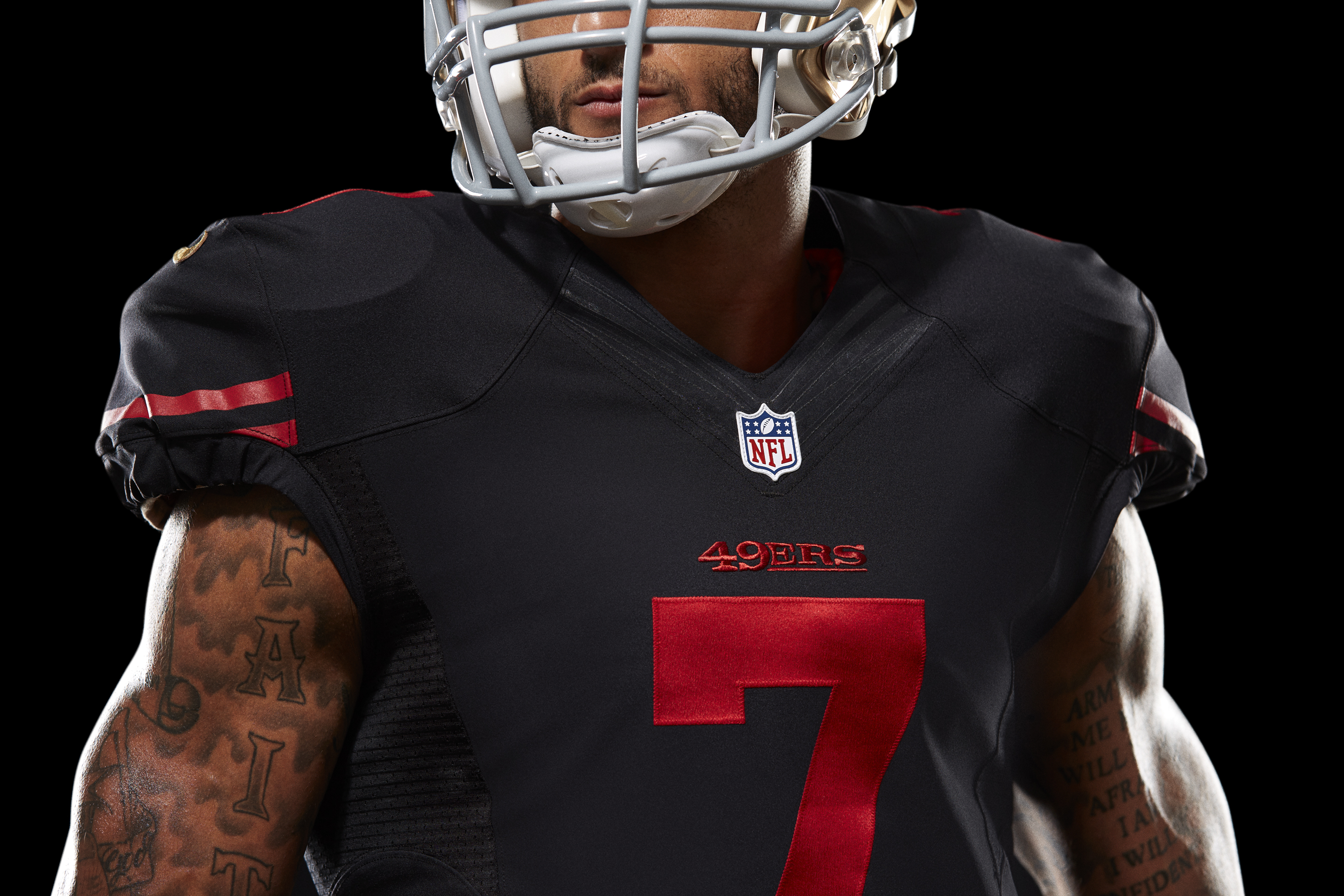 49ers jersey black and red