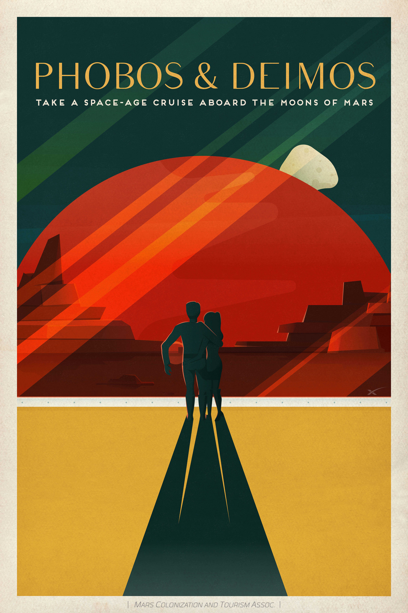 spacex mars poster