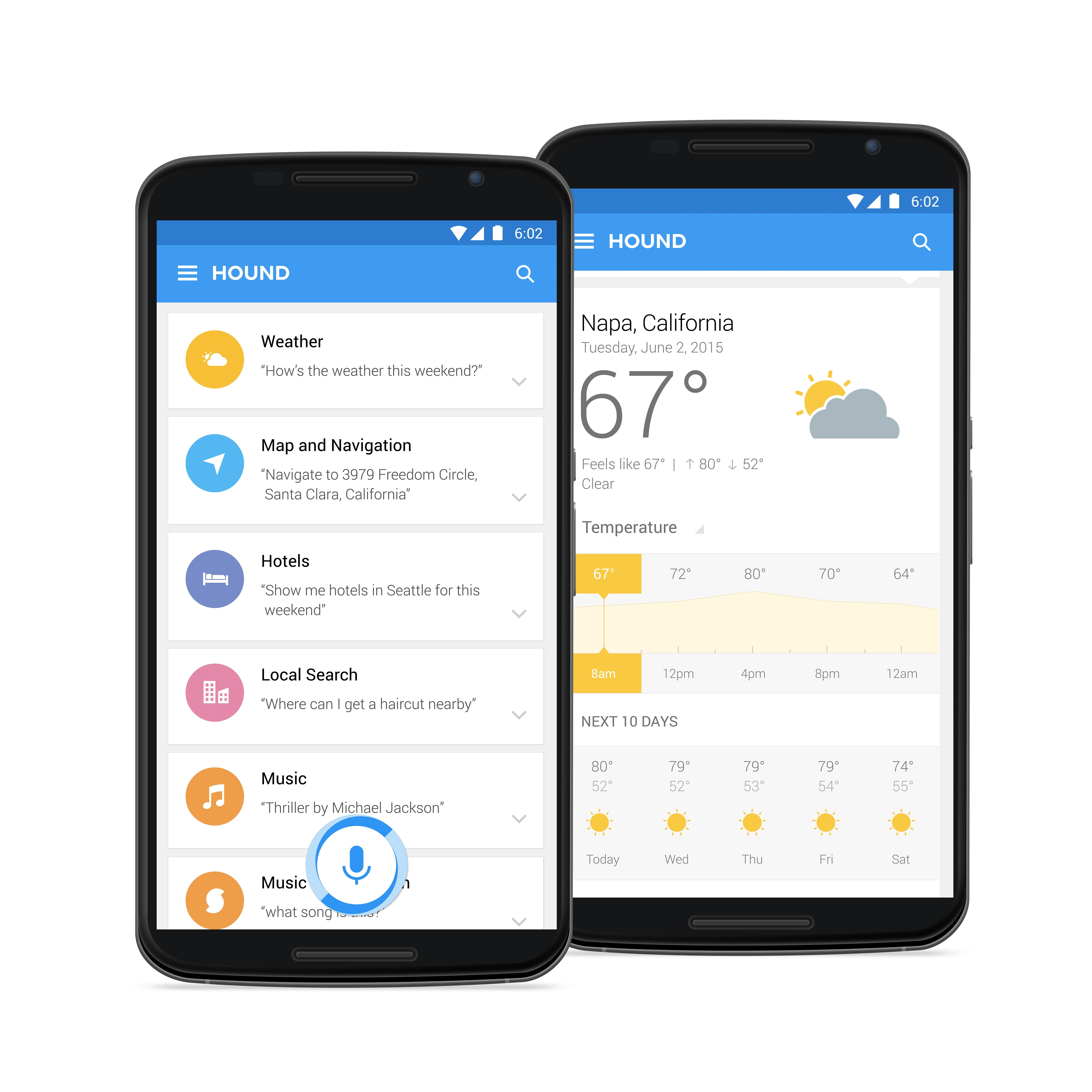 Cortana change your voice to mail - Soundhound Hound App