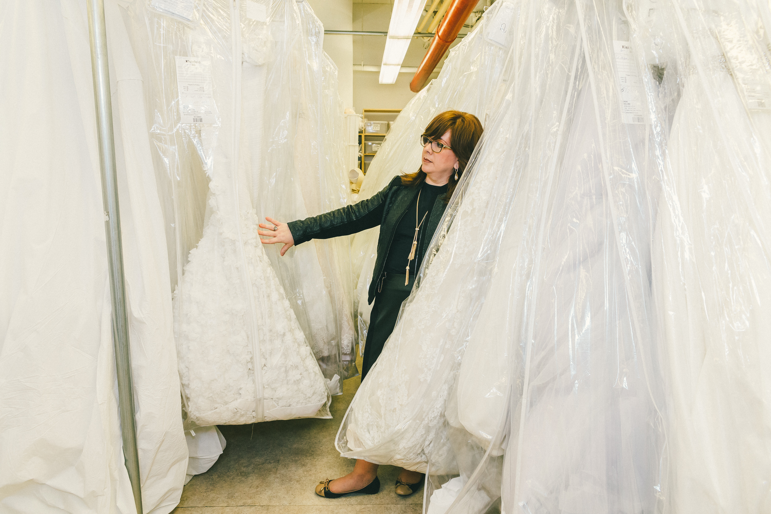The dress is white - During Her Two Decades At Kleinfeld Katz Has Worked With Women From A Wide Array Of Backgrounds She S Learned The Different Set Of Modesty Rules That Come