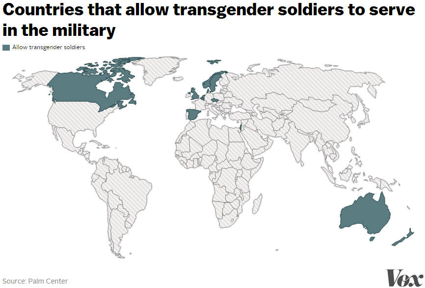Militarys Transgender Ban Based On Bad Medical Science Say - Transgender map of us