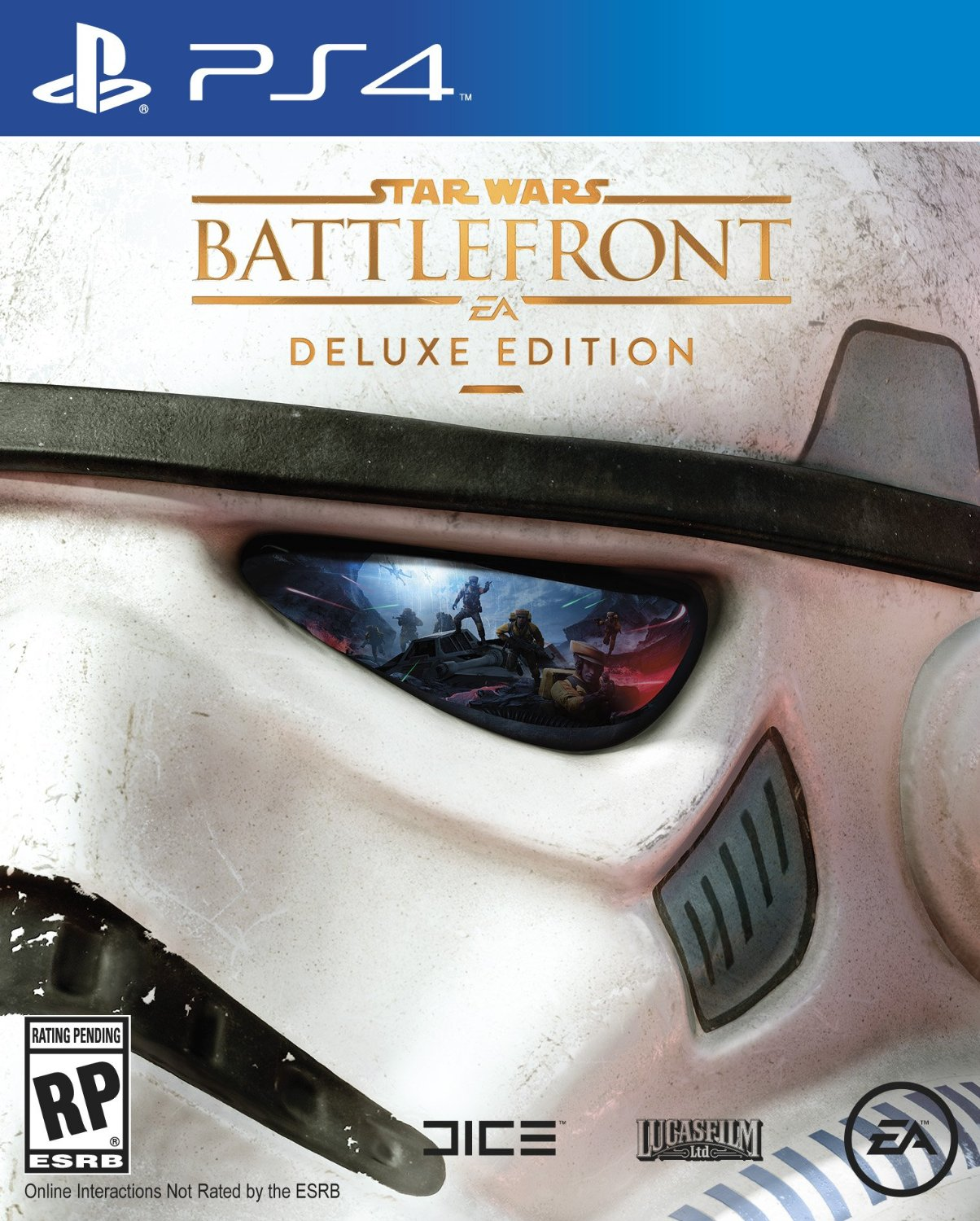 Star Wars Battlefront's Deluxe Edition has gorgeous box art and Han Solo's blaster