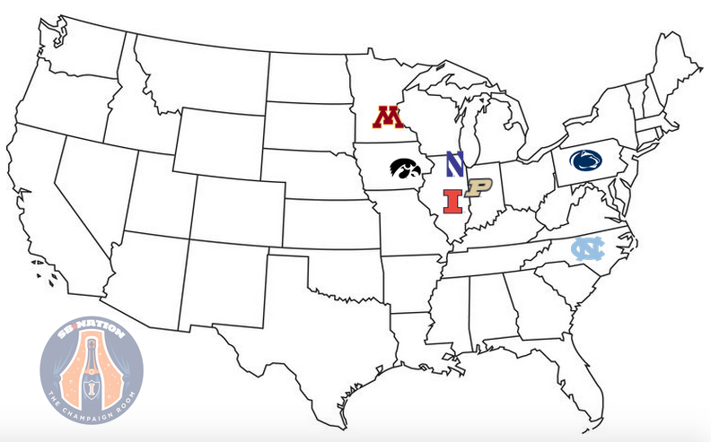 illinois football will travel over 4 500 miles during the