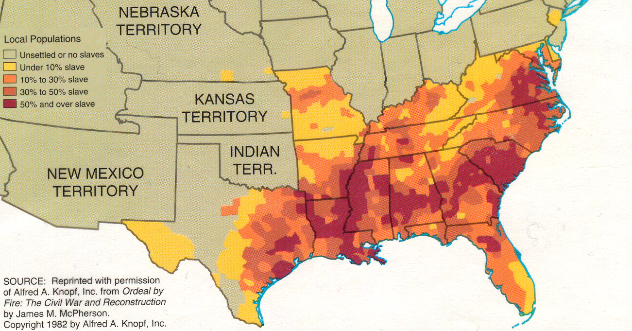 Maps That Show The Civil War Really Was About Slavery Vox - Us slavery map 1860