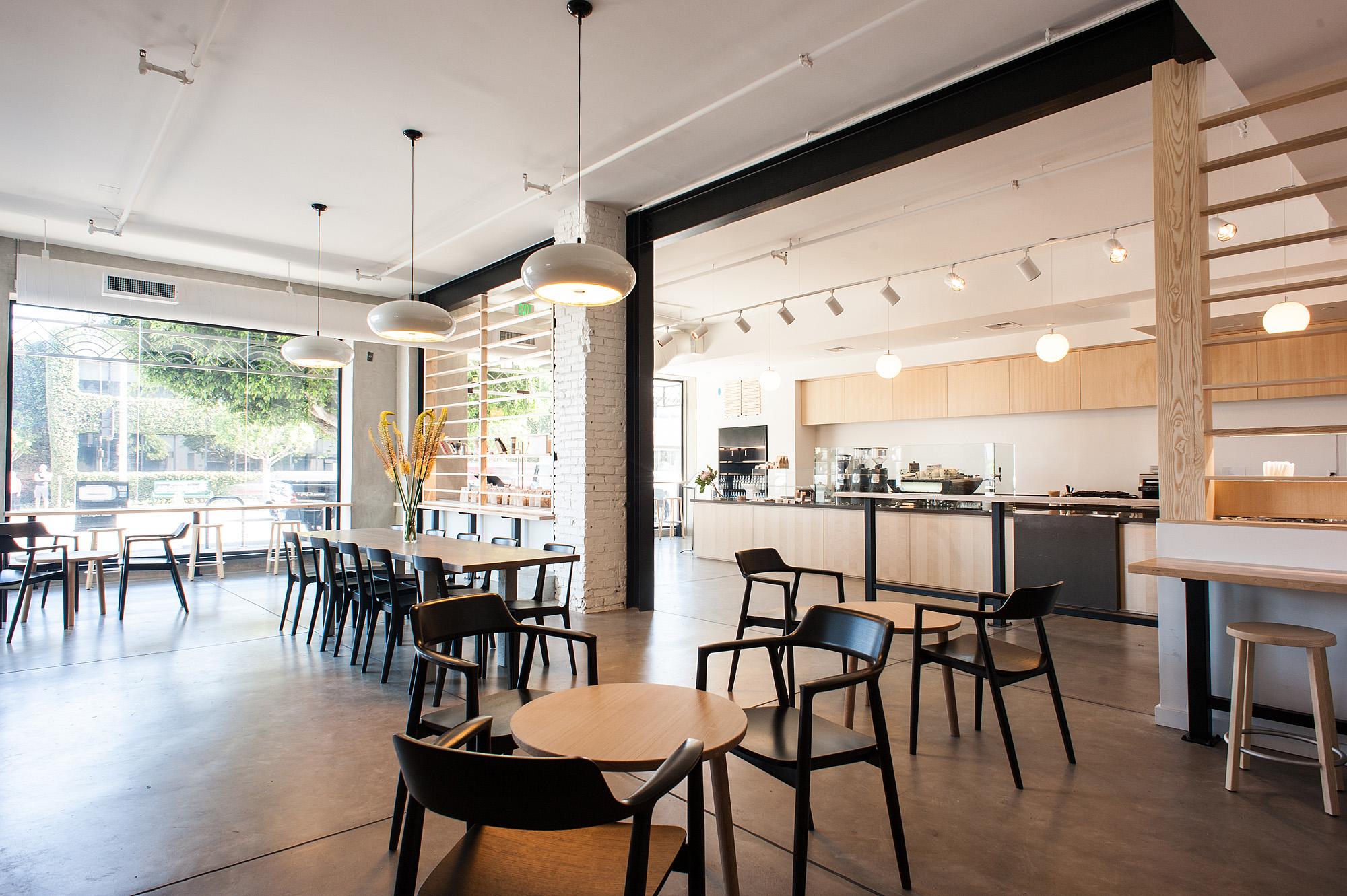 Inside Blue Bottle Coffee S Beautiful New Beverly Blvd