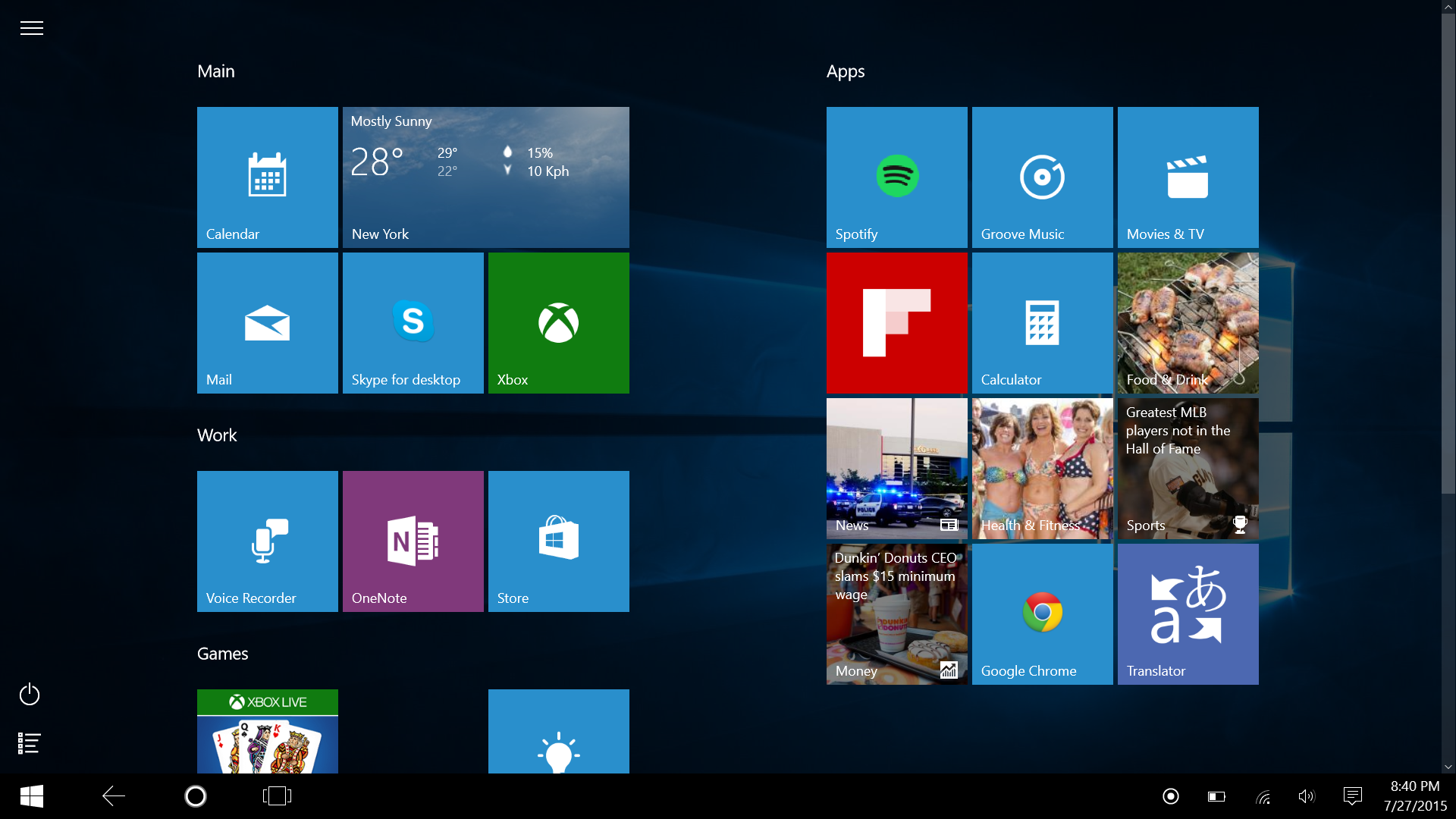 Windows 10 Tablet Mode A Mobile Os That Stays Out Of Your